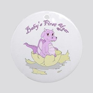Baby's First Year Dragon Ornament (Round)