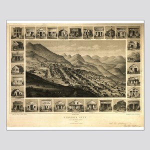 Antique Maps USA - Virginia C Small Poster