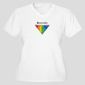 Esmeralda: Proud Lesbian Women's Plus Size V-Neck