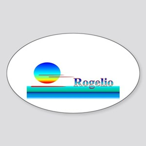 Rogelio Oval Sticker