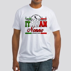 World's Greatest Italian Nonno Fitted T-Shirt