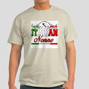 World's Greatest Italian Nonno Light T-Shirt