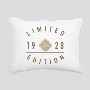 1928 Limited Edition Rectangular Canvas Pillow