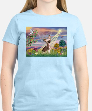 Cloud Angel/Chinese Crested Women's Light T-Shirt