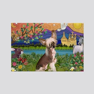 Chinese Crested Fantasyland Rectangle Magnet