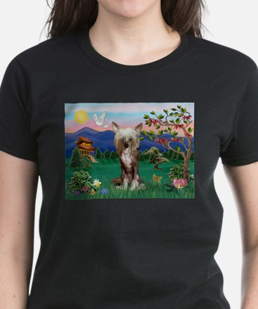 Pagoda/Chinese Crested Women's Dark T-Shirt