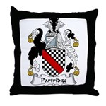 Partridge Family Crest Throw Pillow