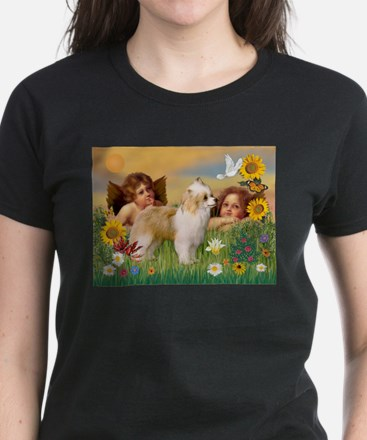 Angels/Puff Crested Women's Dark T-Shirt