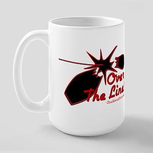 OVER THE LINE Large Mug