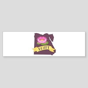 Egypt Lotus Flower Bumper Sticker