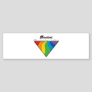 Destini: Proud Lesbian Bumper Sticker