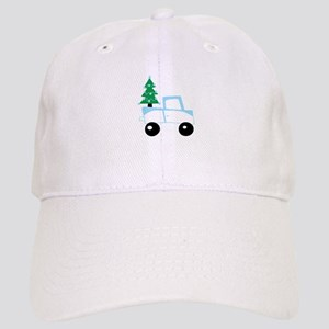 Christmas tree on car Baseball Cap
