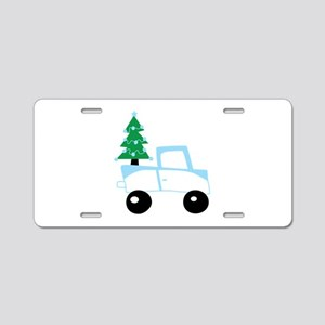 Christmas tree on car Aluminum License Plate