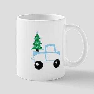 Christmas tree on car Mugs