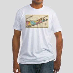 Vintage Map of Suffolk New York (1829) T-Shirt