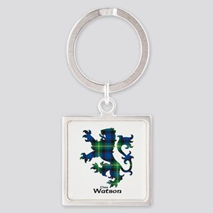 Lion-Watson Square Keychain