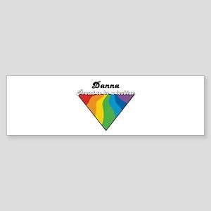 Danna: Proud Lesbian Bumper Sticker