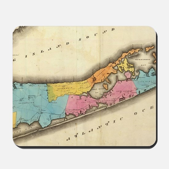 Vintage Map of Suffolk New York (1829) Mousepad