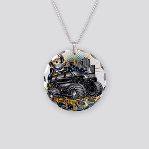 Music Mixer Monster Truck Necklace Circle Charm
