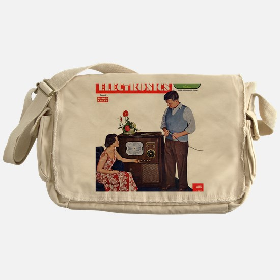 old time science magazine cover Messenger Bag