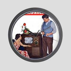 old time science magazine cover Wall Clock