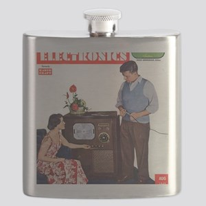 old time science magazine cover Flask