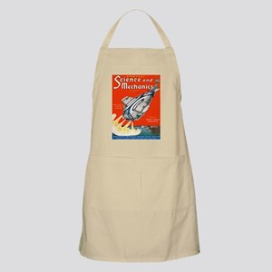 old time science magazine cover Apron