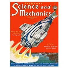 old time science magazine cover Poster