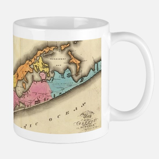 Vintage Map of Suffolk New York (1829) Mugs