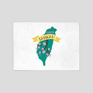Taiwan Country Map Plum Blossom Flower Taipei Capi