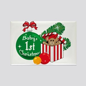 Baby's 1st Christmas Rectangle Magnet