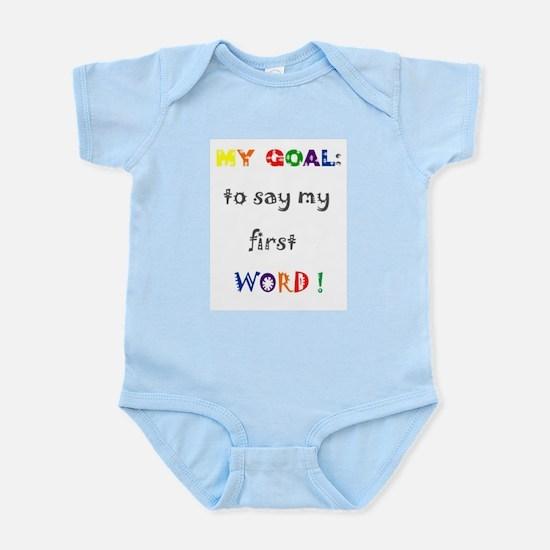 My Goals..... Infant Bodysuit