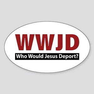 Deport Oval Sticker