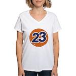 23 Logo Women's V-Neck T-Shirt