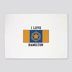 I Love Hamilton 5 X7 Area Rug