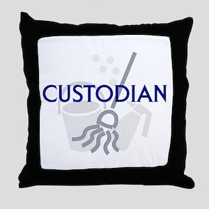 Custodian Throw Pillow