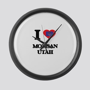 I love Morgan Utah Large Wall Clock