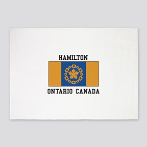 Hamilton Ontario 5 X7 Area Rug