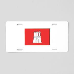 Hamburg Germany Flag Aluminum License Plate