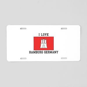 I Love Hamburg Aluminum License Plate
