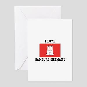 I Love Hamburg Greeting Cards
