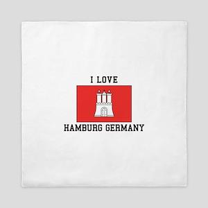 I Love Hamburg Queen Duvet