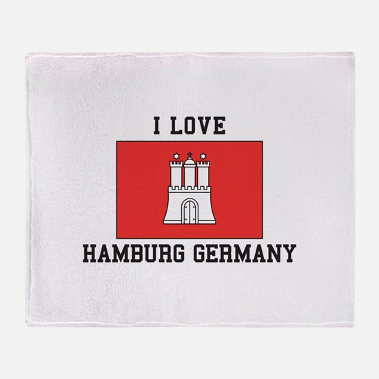 I Love Hamburg Throw Blanket