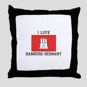 I Love Hamburg Throw Pillow
