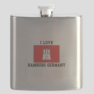 I Love Hamburg Flask