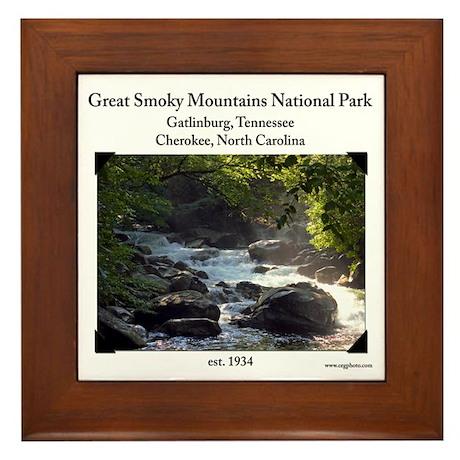 Smoky Mountain Stream Framed Tile