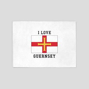 I Love Guernsey 5'x7'Area Rug