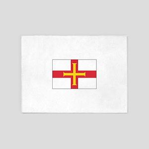 Guernsey Flag 5'x7'Area Rug