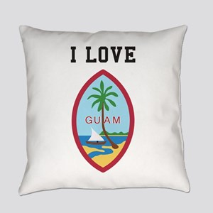 I Love Guam Everyday Pillow