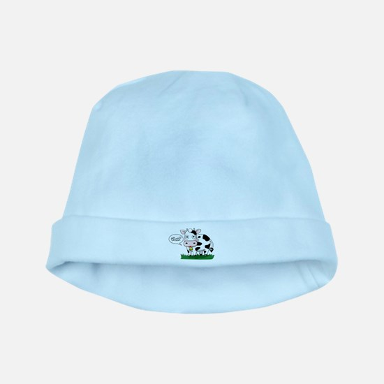 Moo? baby hat